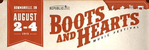 Boots & Hearts 2013 Banner