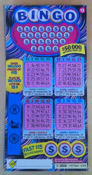 Monday Morning Bingo Ticket - OLG