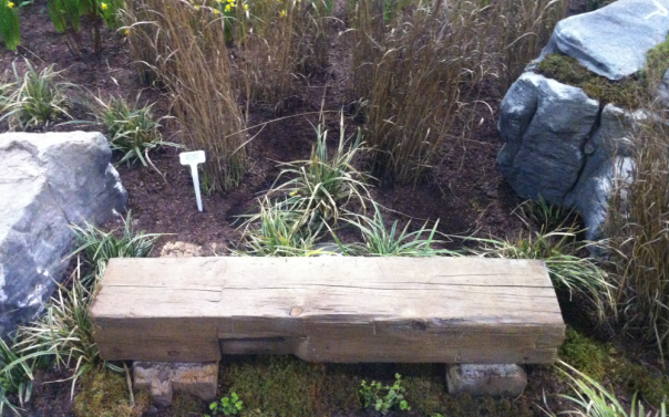 Log Bench in Garden - Canada Blooms 2013