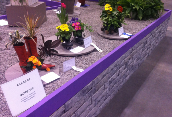 Flowers Planted in Shoes and Boots at Canada Blooms