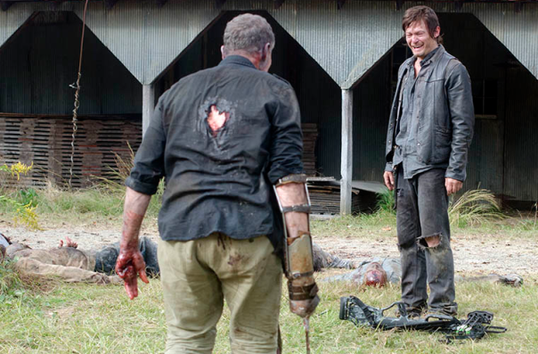 The Walking Dead - Daryl and Zombie Merle