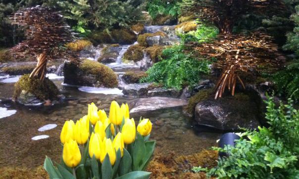 Garden Waterfall - Canada Blooms 2013