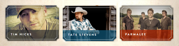 Boots & Hearts Line-Up Additions - Tim Hicks, Tate Stevens, Parmalee