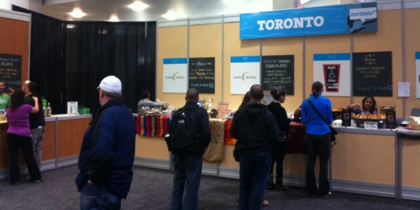 2013 Green Living Show Toronto Food Booth