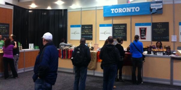 2013 Green Living Show Toronto Food Booth