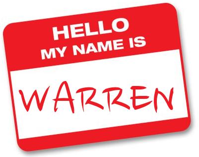 Hello My Name Is Warren!