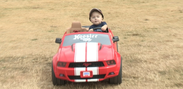 Weslee Driving The Mustang