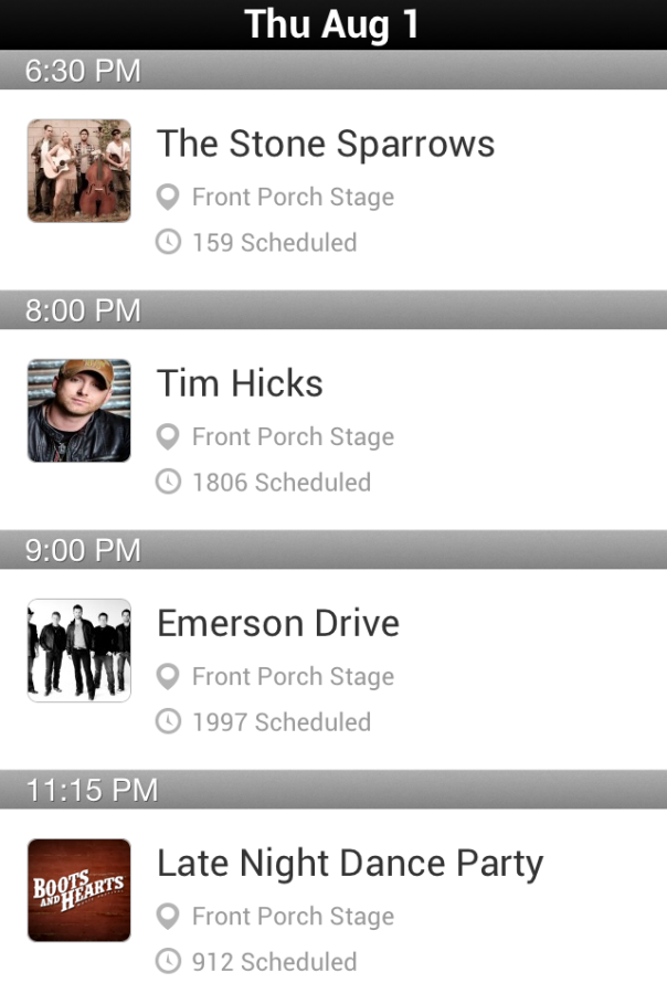 Boots and Hearts Front Porch Thursday Schedule