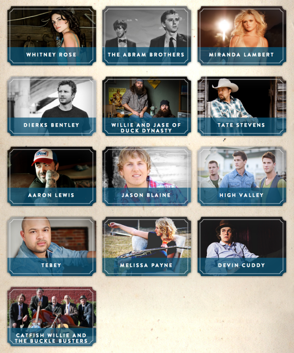 Boots and Hearts 2013 Sunday Line Up