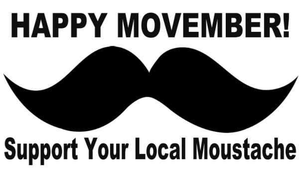 Happy Movember Magnet - BuildASign.com