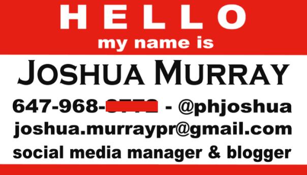 Joshua Murray Business Card - BuildASign.com