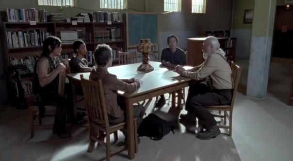 Daryl, Carol, Glenn, Herschel and Sasha Meeting The Walking Dead Season 4