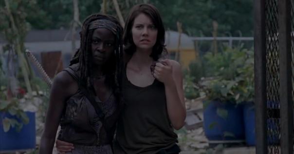 Michonne and Maggie The Walking Dead Season 4