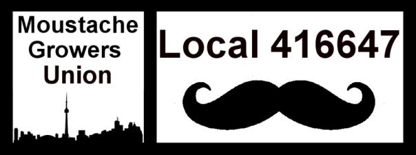 Moustache Growers Union Local 416647 Logo Banner 2013
