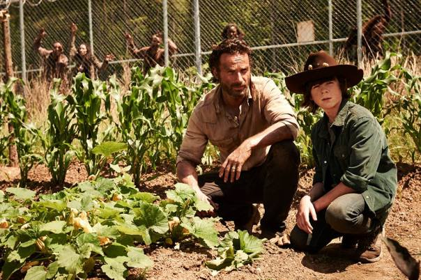Rick and Carl The Walking Dead Season 4 Preview