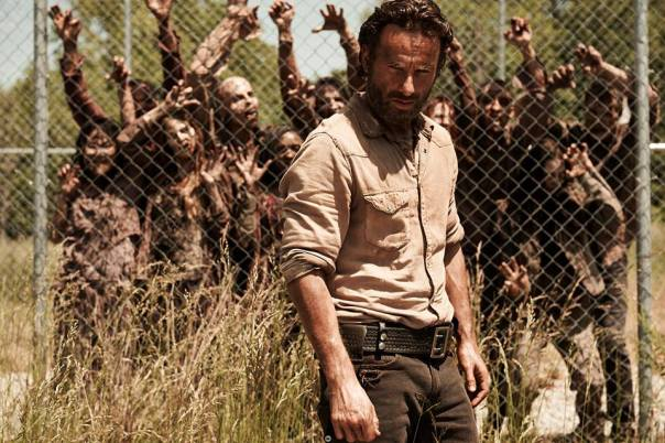 Rick and Fence Walkers The Walking Dead Season 4 Preview
