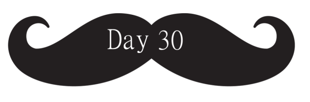 Moustache Banner Day 30