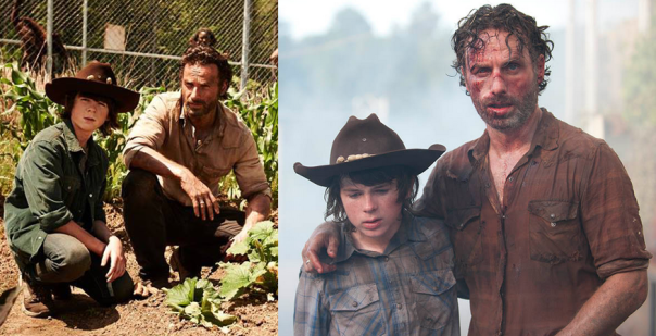 Rick and Carl Season 4 episode 1 and episode 8
