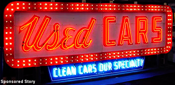 Neon Used Car Sign