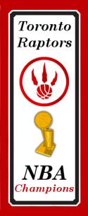 Toronto Raptors NBA Championship Banner