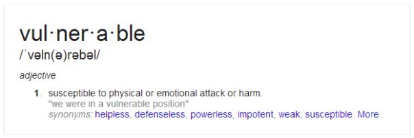 Vulnerable