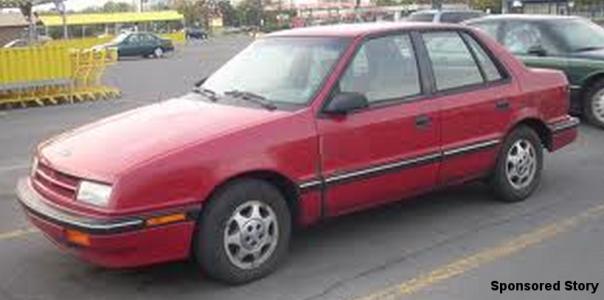 Maroon Dodge Shadow