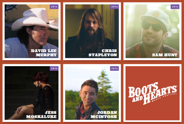 Boots and Hearts Lineup Announcement March 3, 2014