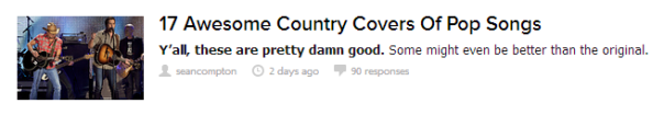 BuzzFeed 17 Awesome Covers of Country Songs