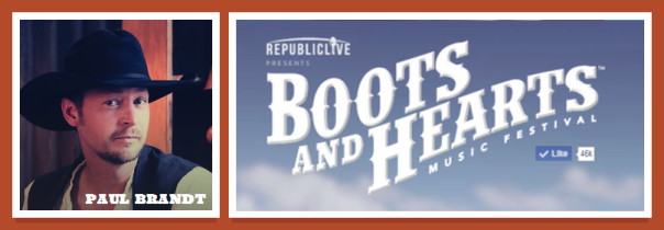 Paul Brandt Boots and Hearts 2014 Preview