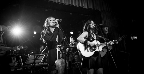 The Lovelocks On Stage Black and White